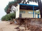 Erosion spat flares after storm as beaches washed away