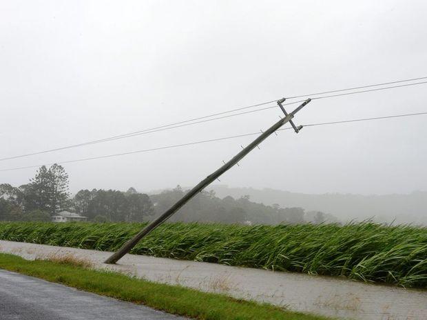 Power lines down in Murwillumbah.