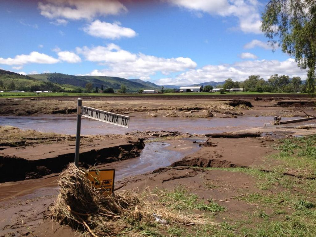 Multiple roads and bridges have been washed away between Mt Sylvia and Junction View.