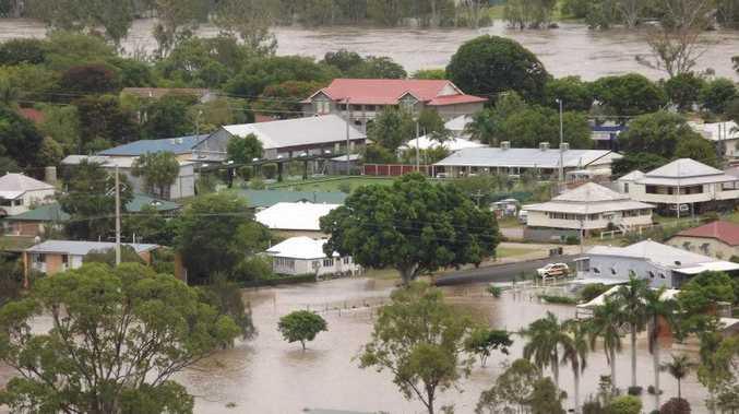 Gayndah during this year's floods.