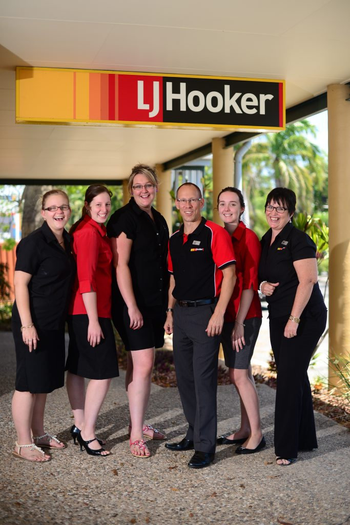 Breearne Jaenki, Nicole Bushman, Rachelle Steer, Mark Spearing, Karissa Riley and Anne Todd from LJ Hooker Gladstone.