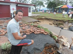 Cafes on the beach at Torquay and Scarness review damage