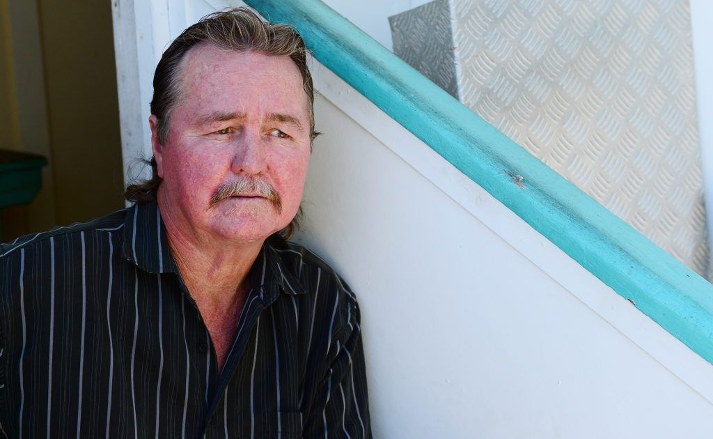 Ray Hicks has been unable to find work after injuring his back in an accident when a balcony collapsed in the rental home he was living in nearly a decade ago. Photo Sharyn O'Neill / The Morning Bulletin