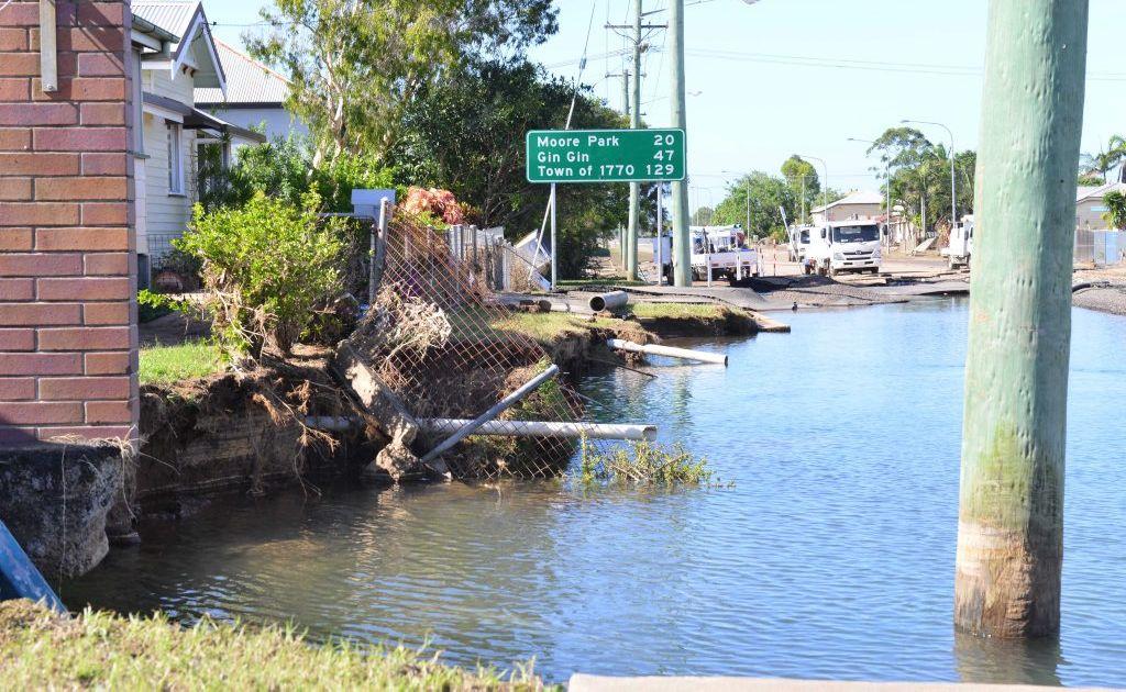 FLOOD DAMAGE: Queen st North Bundaberg. Photo: Scottie Simmonds / NewsMail