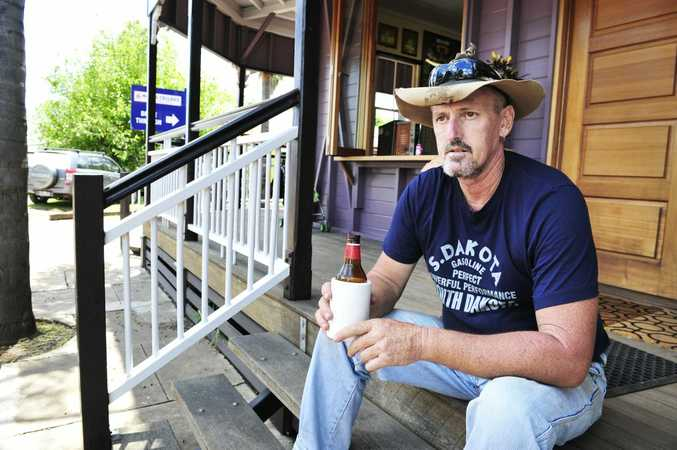 Mick Henderson is not happy that Laidley has not been declared a disaster zone despite water levels being higher through the town than in 2011. Photo: Rob Williams / The Queensland Times