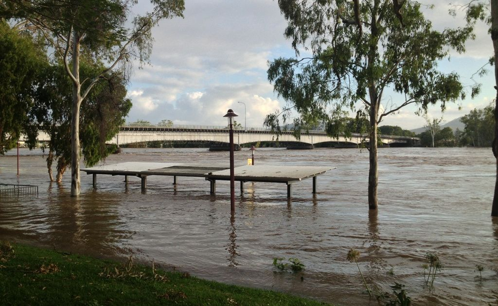 What the Fitzroy River looked like last time it flooded in February 2013.