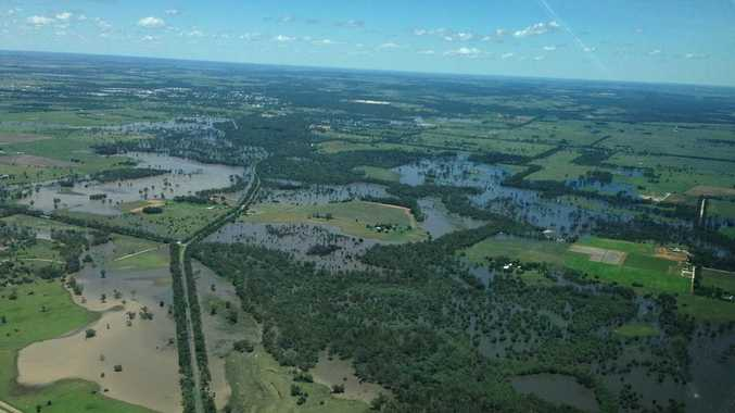 An aerial shot of Chinchilla taken during by Member for Warrego Howard Hobbs when he flew in on Tuesday.