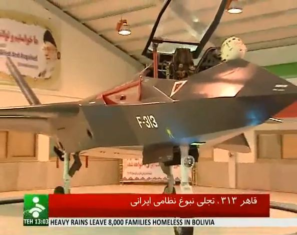 President Mahmoud Ahmedinejad described the Qaher F313 – or Dominant F313 – as being comparable to the world's most sophisticated jets.