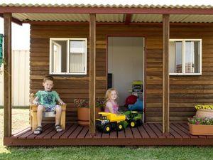 Portable cubby house ready for new preschool