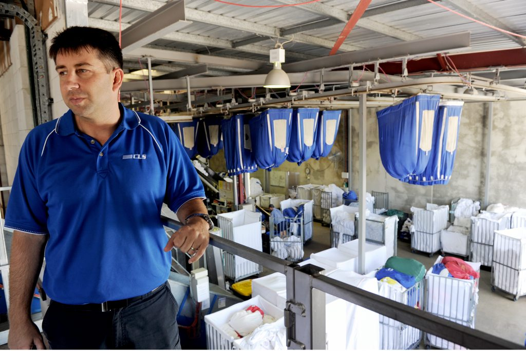 Consolidated Linen Services' Adam Roberts is fighting to operate without a gas supply.