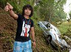 Driver survives creek flood terror in torrential rain