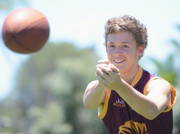 Bay Power junior and Brisbane Lions Academy member Brenton Philp is working hard to achieve his goal of making the Queensland Scorpions under-16 team this year.