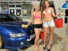 Fundraiser awash with bikini models