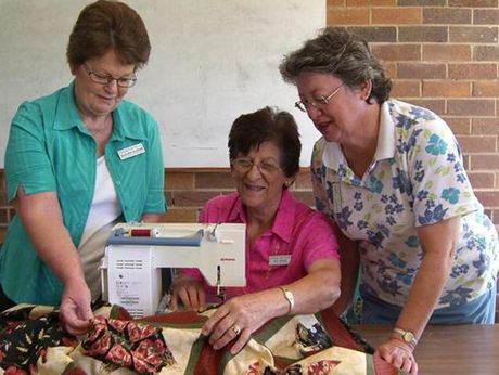 Members of the Toowoomba Quilters Club (from left) Marleen Kleidon, president Fay Suley and Angela Langdon.