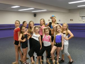 Hip-hop top item for dancers at workshop