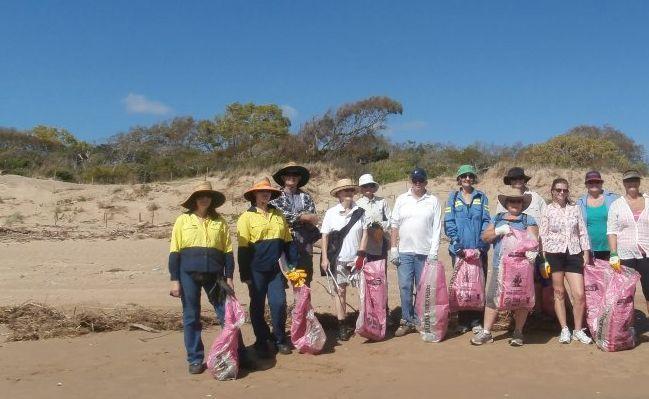 Gladstone region residents rallied together to help clean up Whyndham Beach, Boyne Island.