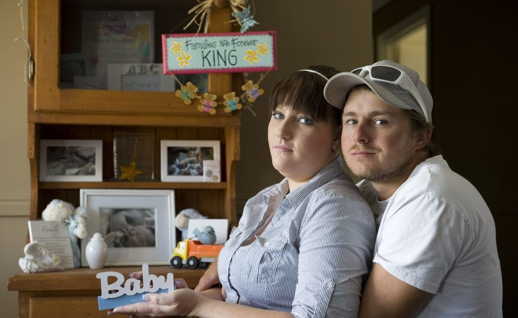 Kylie and Michael King went on a holiday paid for by a stranger after their baby Jordan was born stillborn, Tuesday, February 05, 2013. Photo Kevin Farmer / The Chronicle