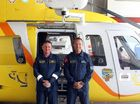 Pilot Chris Manns and crewman Dave Paterson.