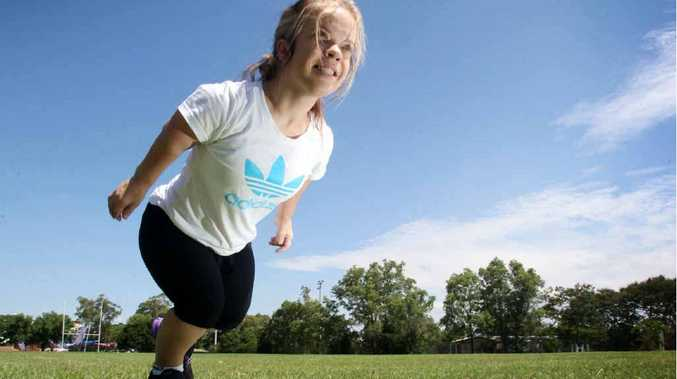 Taneya Shannon trains for the forthcoming World Dwarf Games.