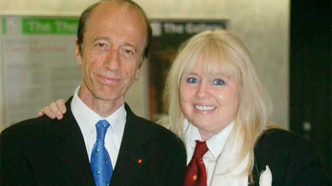 Dwina with Robin Gibb