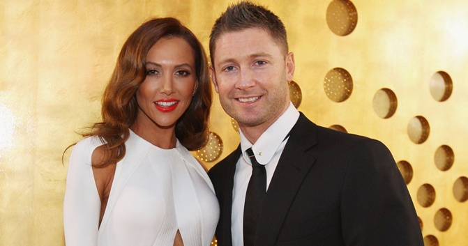 Michael Clarke with his wife Kyly FILE
