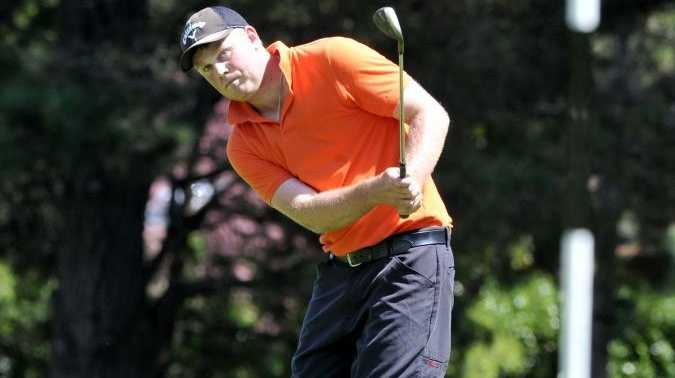 Johnathon Zirkler competing in last year's Queensland's PGA Championship pre-qualifying event at Toowoomba Golf Club.