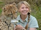 Bindi Irwin with a cheetah at Australia Zoo at Beerwah.
