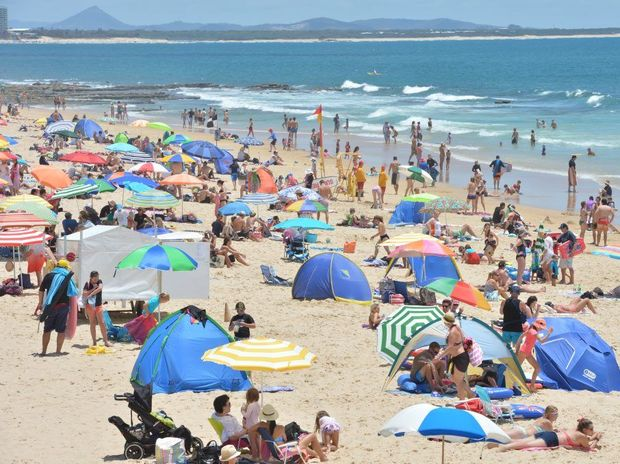 Mooloolaba Beach is one of the best places on the Sunshine Coast to cool down in the heat.