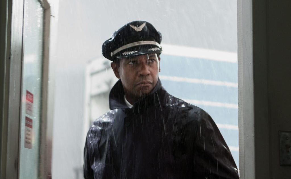 Denzel Washington in a scene from the movie Flight.