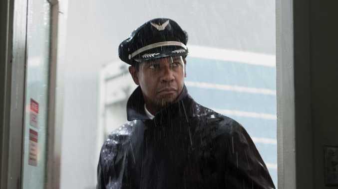 Denzel Washington in a scene from the movie Flight.
