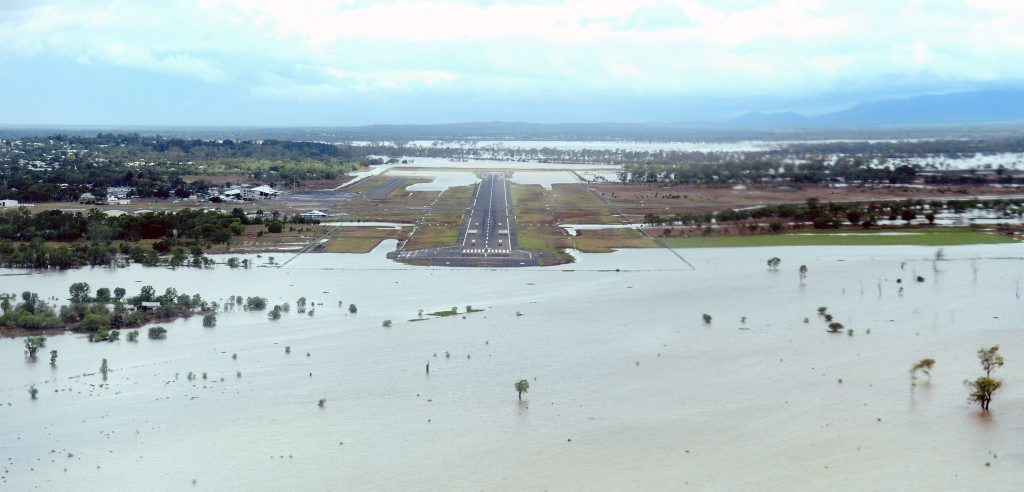 Flooded areas of Rockhampton - looking at airport. Images from the air - The big wet, Australia Day weekend around Rockhampton 2013. Photo Sharyn O'Neill / The Morning Bulletin