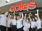The grand opening of the brand new Coles CBD store on Wednesday. Staff happy. Photo: Rob Williams / The Queensland Times