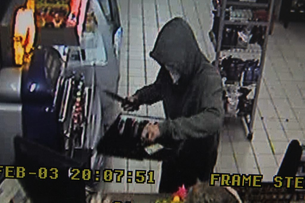 A man armed with a knife gets away with a cash register drawer at Freedom Fuels in Wilsonton.