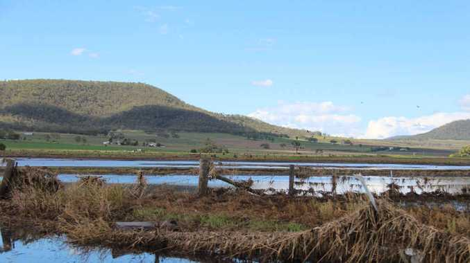 Some farmers have not even been able to get onto their land to assess the damage yet as the water is still pooled in the paddocks.