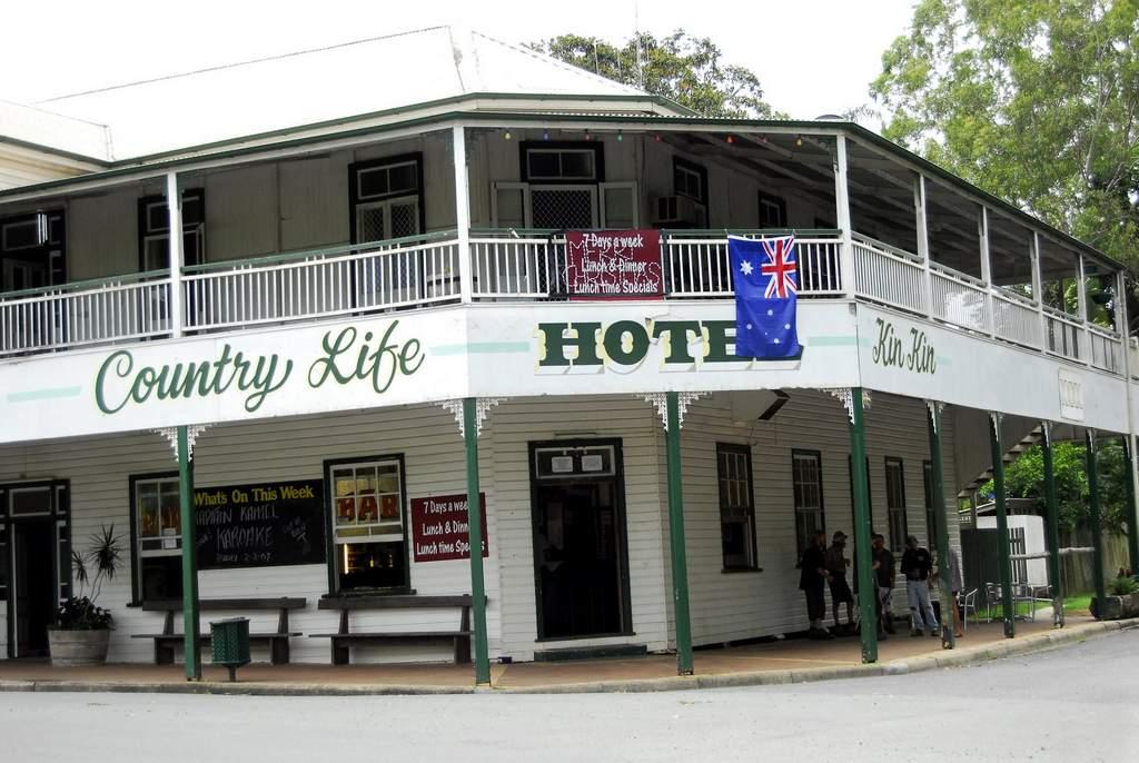 The famous Kin Kin Hotel.