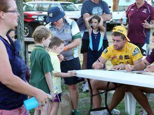 Broncos players wow Central Queensland school children