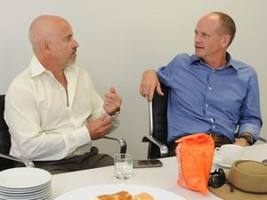 State Premier Campbell Newman could be dealing with fire