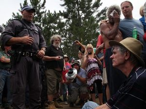 Drew Hutton arrested at protest in NSW