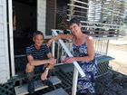 FIGHTING SPIRIT: Despite losing everything to the flood, Finemore Holiday Park residents Clive and Maree Baxter continue moving forward with a positive attitude as they rebuild their lives.