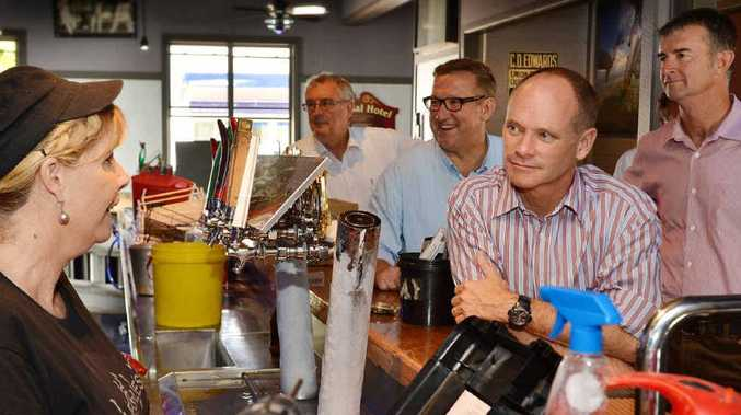 Campbell Newman during a visit to Gympie.