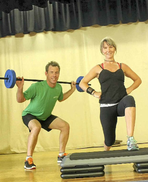 PUMPING IT UP: Group FX manager, Jenni Scotchmer and Summit owner, Matt George at the new fitness centre in the old RSL Club.