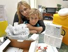 Candice Jenkins-Pearce and son Bailey, who has hemophilia and needs vital medical supplies.