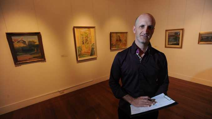 Lismore regional Gallery Director Brett Adlington is proud to prese t Clarice Beckett and Grace Cossington Smith's work as apart of an exhibit on Australian women modernists. Photo Marc Stapelberg / The Northern Star