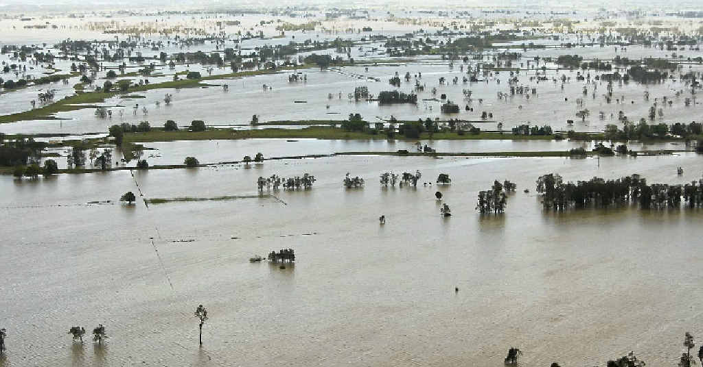 The Clarence River in flood.