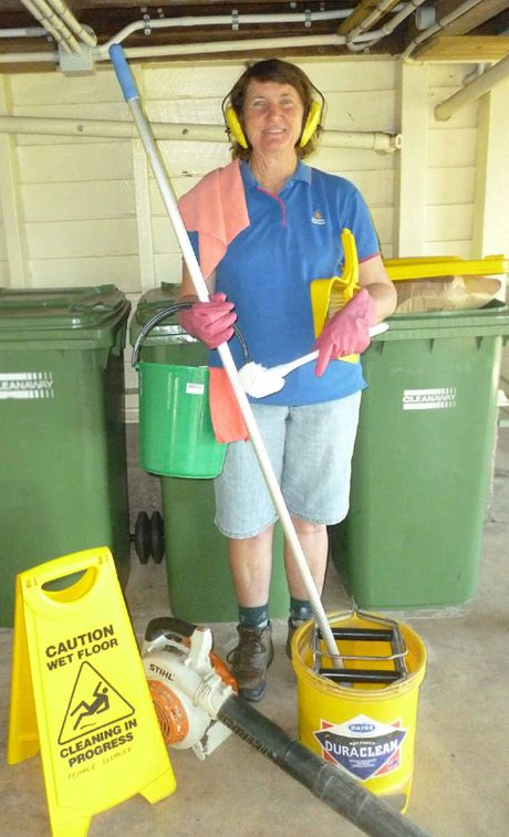 Retiring Amamoor State School cleaner Tereasa George, at school for her last week.