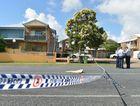 Police guard a crime scene on Boddington Street, East Mackay, where Shandee Blackburn was found murdered  early on February 9.