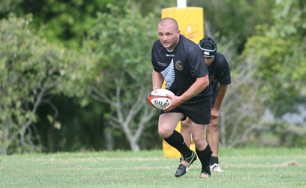 Brendan Eagle playing for NZ against Australia in a 7 a side Rugby Union game at Emu Park on Saturday afternoon. Photo: Chris Ison / The Morning Bulletin