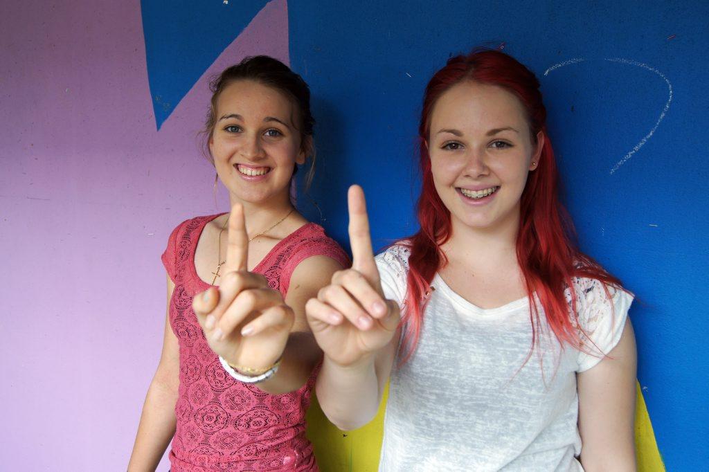 TOP MARKS: Gin Gin High school students Emma McLennan and Hollis Brandt both scored OP1. Photo: Leah Kidd / NewsMail