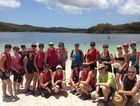 The Wide Bay Crew enjoy a trek on Fraser Island, finishing at Lake MCkenzie.