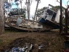 Mighty Mary River leaves boats piled up at M'boro Slipway